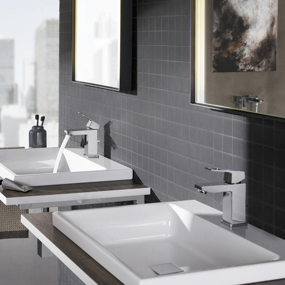 grohe eurocube mono basin mixer w pop up waste. Black Bedroom Furniture Sets. Home Design Ideas