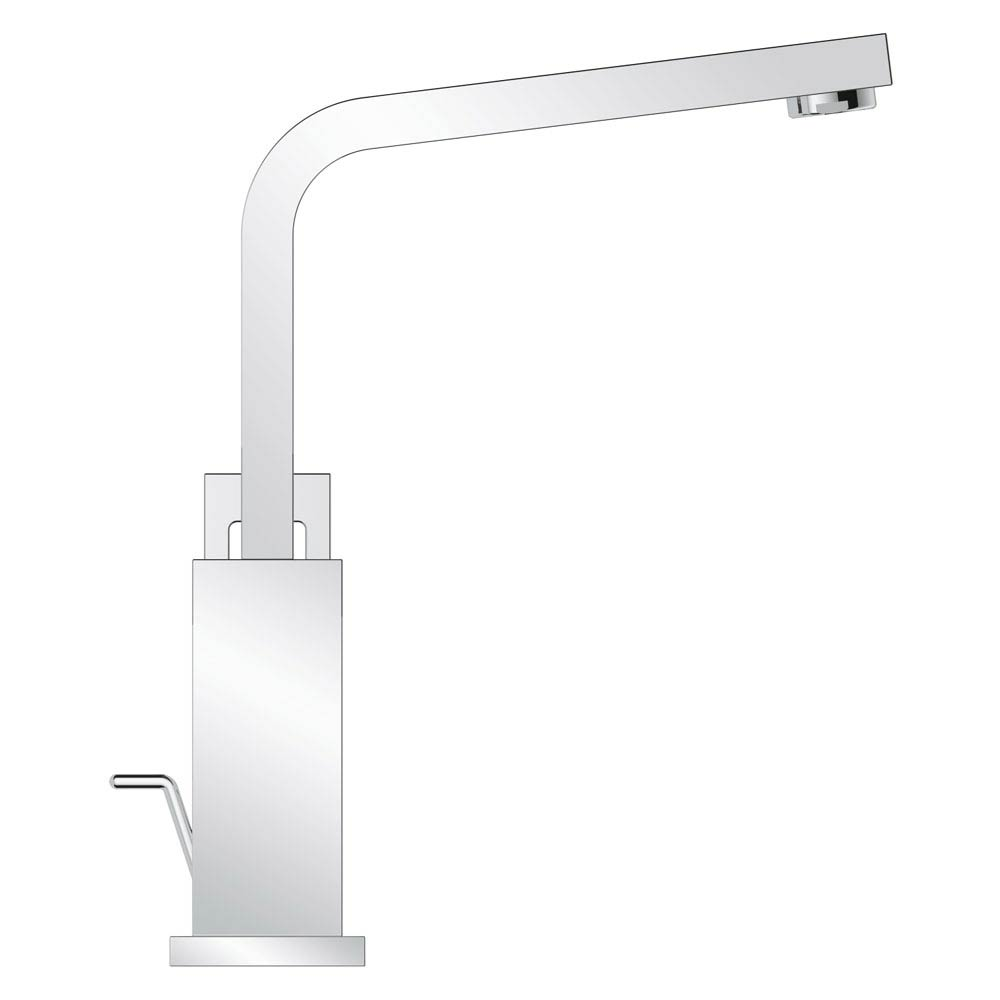 Grohe Eurocube High Spout Basin Mixer with Pop-up Waste - 23135000 profile large image view 2