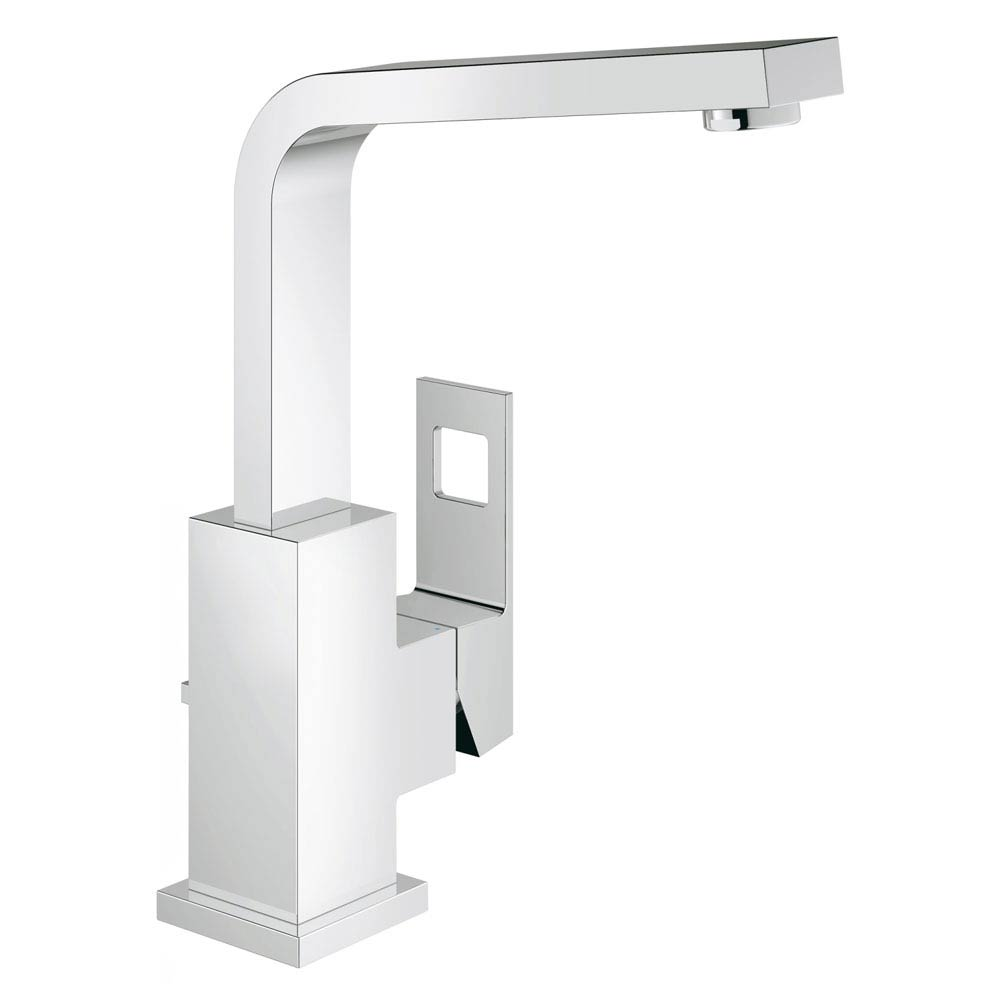 Grohe Eurocube High Spout Basin Mixer with Pop-up Waste - 23135000 Large Image