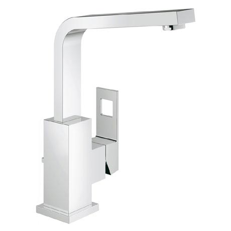 Grohe Eurocube High Spout Basin Mixer with Pop-up Waste - 23135000