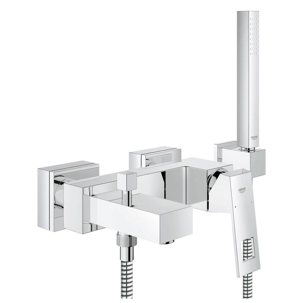 Grohe Eurocube Wall Mounted Bath Shower Mixer and Kit - 23141000 Large Image
