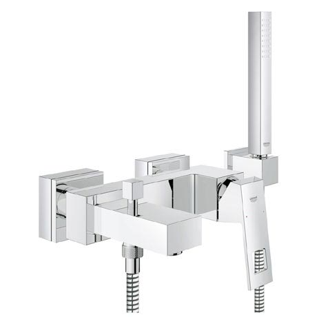 Grohe Eurocube Wall Mounted Bath Shower Mixer and Kit - 23141000