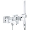 Grohe Eurocube Wall Mounted Bath Shower Mixer and Kit - 23141000 profile small image view 1