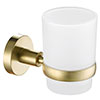 JTP Vos Brushed Brass Tumbler & Holder profile small image view 1