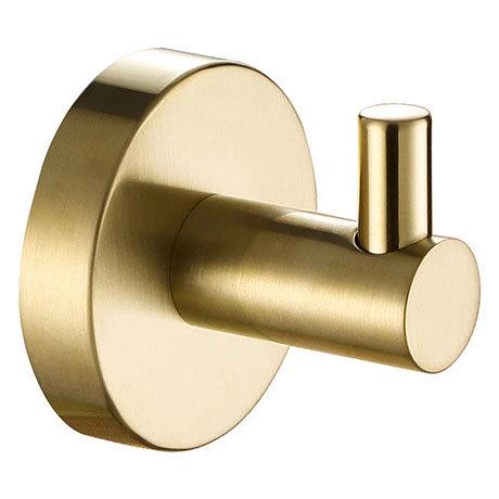 JTP Vos Brushed Brass Single Robe Hook