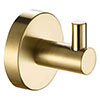 JTP Vos Brushed Brass Single Robe Hook profile small image view 1