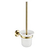 JTP Vos Brushed Brass Toilet Brush & Holder profile small image view 1