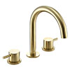 JTP Vos Brushed Brass 3 Hole Deck Mounted Basin Mixer profile small image view 1