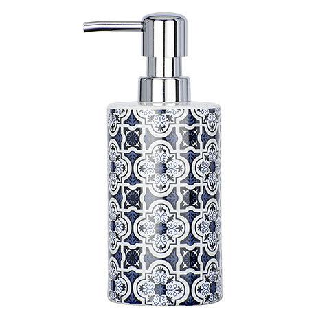 Wenko Murcia Blue Ceramic Soap Dispenser - 23201100