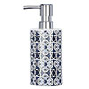 Wenko Murcia Blue Ceramic Soap Dispenser - 23201100 Small Image