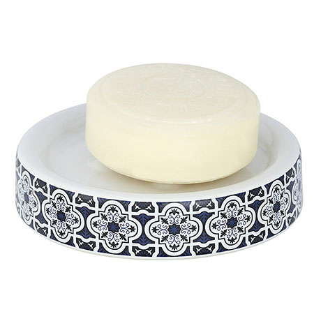 Wenko Murcia Blue Ceramic Soap Dish - 23202100