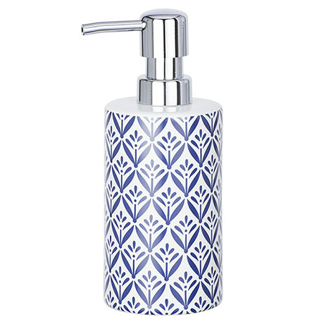 Wenko Lorca Blue Ceramic Soap Dispenser - 23205100