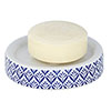 Wenko Lorca Blue Ceramic Soap Dish - 23206100 profile small image view 1