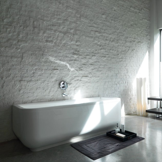 Laufen - Form 1800 x 800mm Back to Wall Bath with Frame and C Panel Standard Large Image