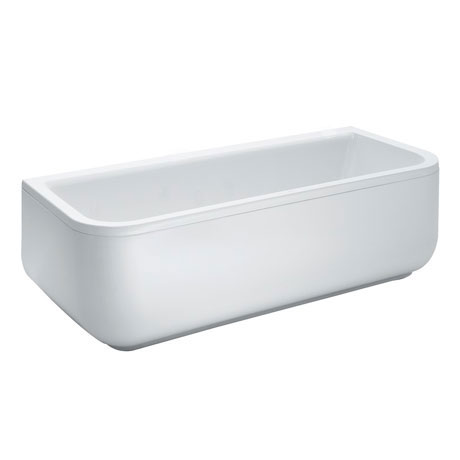 Laufen - Form 1800 x 800mm Back to Wall Bath with Frame and C Panel