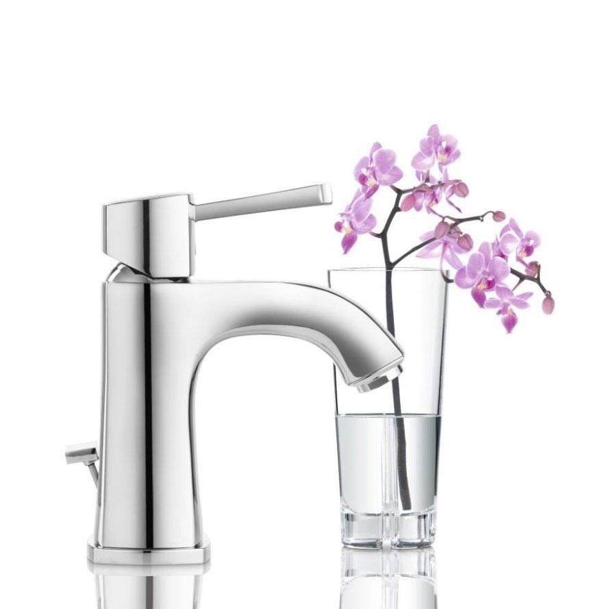Grohe Grandera Mono Basin Mixer with Pop-up Waste - Chrome - 23303000 profile large image view 2