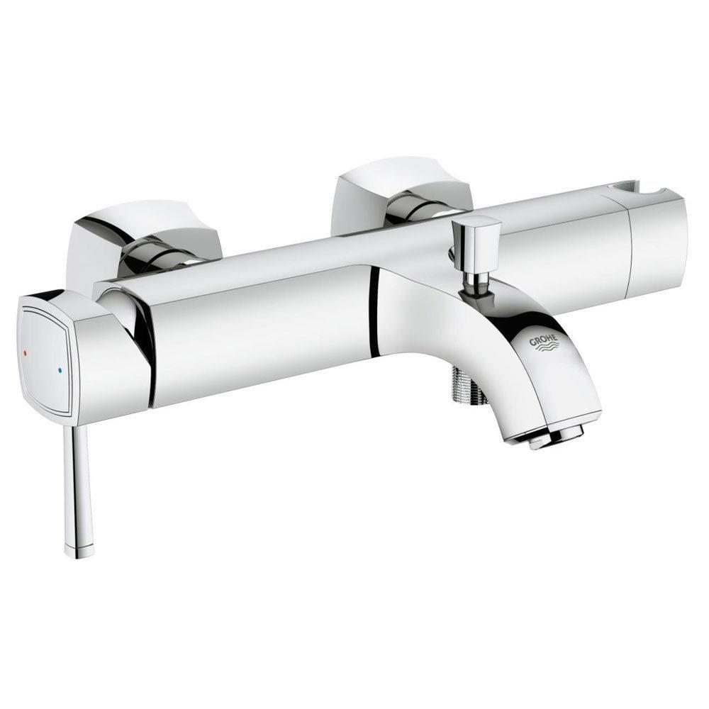 Grohe Grandera Wall Mounted Bath Shower Mixer - Chrome - 23317000 Large Image