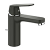 Grohe Matt Black Eurosmart Cosmopolitan Mono Basin Mixer with Pop-up Waste - 23325KW0 profile small image view 1