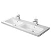 Duravit DuraStyle 1300mm Double Furniture Washbasin - 2338130000 profile small image view 1