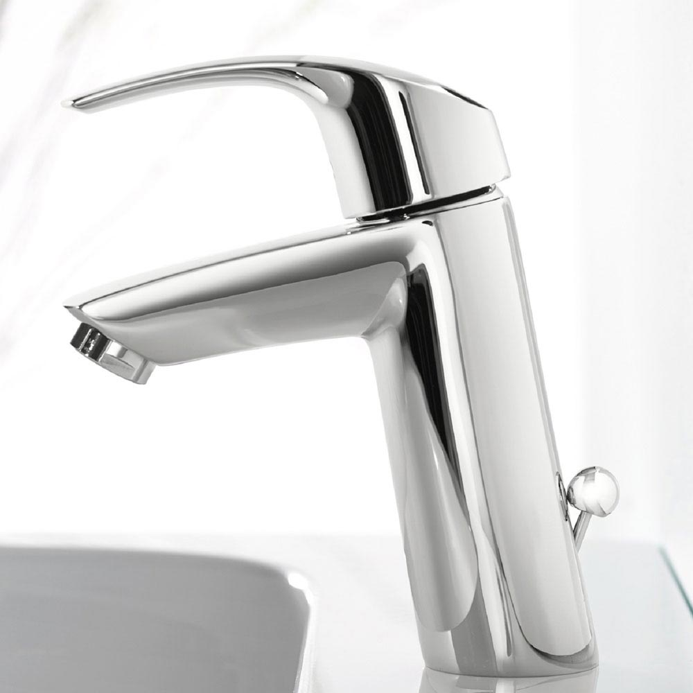 Grohe Eurosmart Mono Basin Mixer with Pop-up Waste - 2339310E profile large image view 2