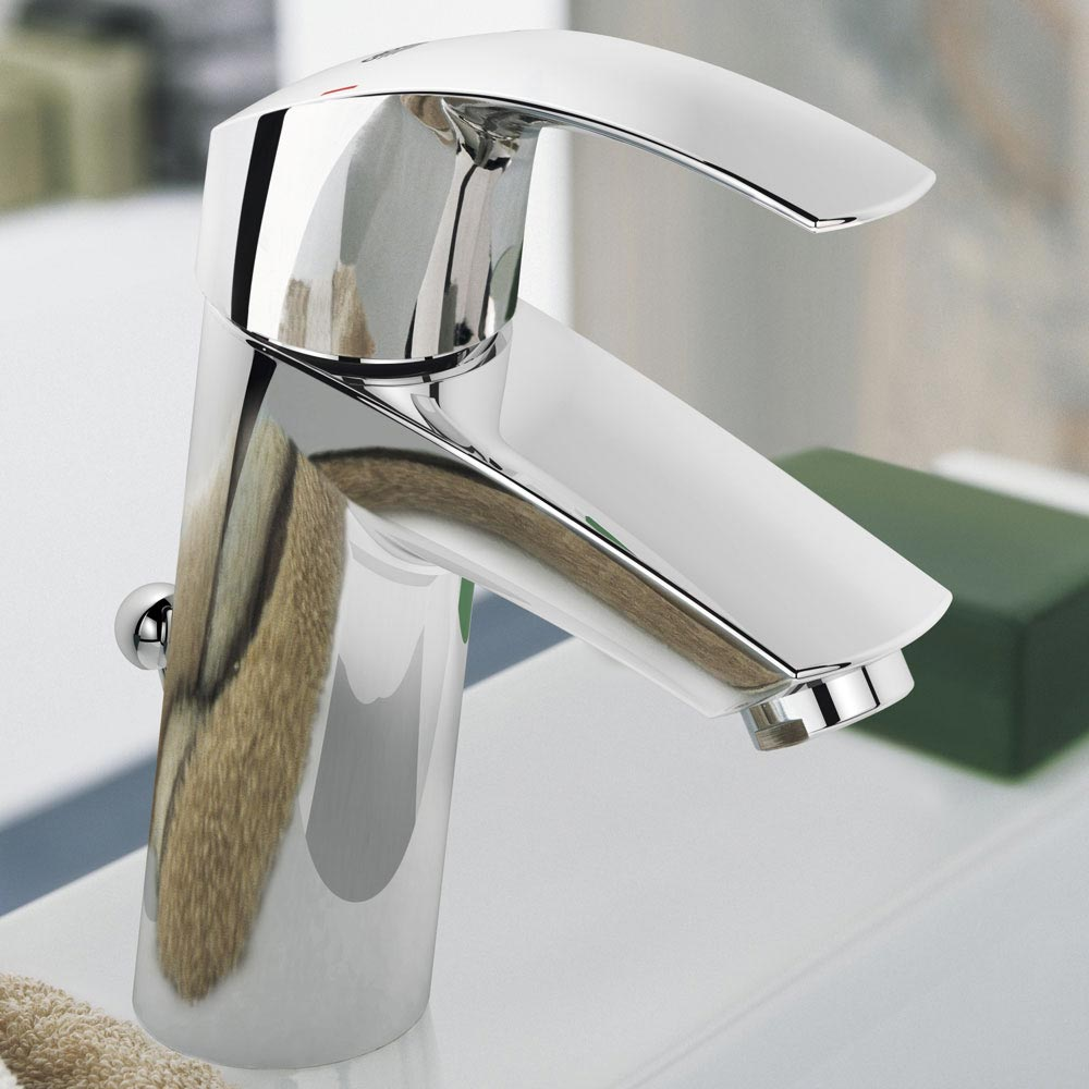 Grohe Eurosmart Mono Basin Mixer with Pop-up Waste - 2339310E profile large image view 3