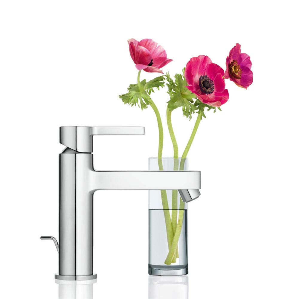 Grohe Lineare Mono Basin Mixer with Pop-up Waste - 23443000 profile large image view 3