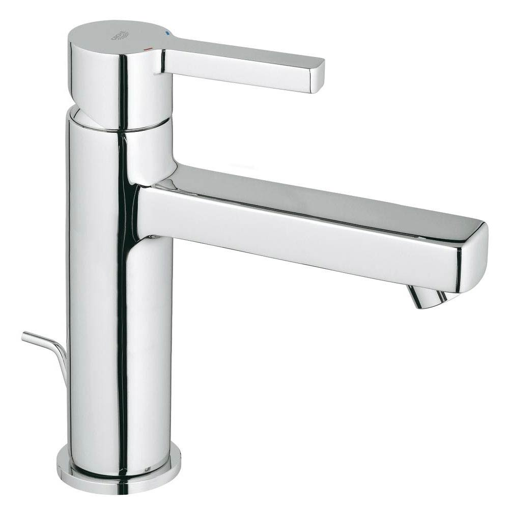 Grohe Lineare Mono Basin Mixer with Pop-up Waste - 23443000 profile large image view 1