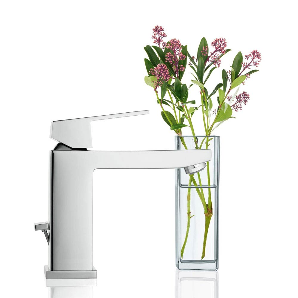 Grohe Eurocube Mono Basin Mixer with Pop-up Waste - 23445000 profile large image view 2