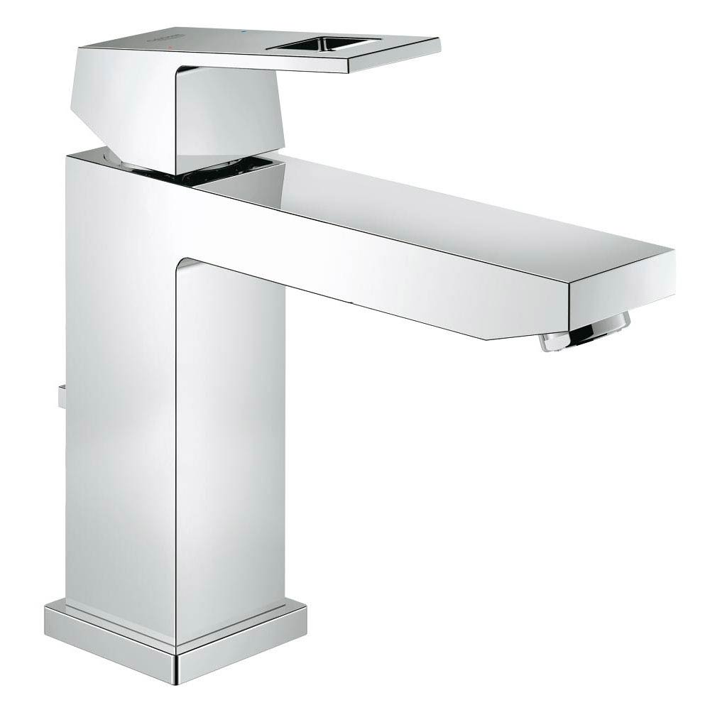 Grohe Eurocube Mono Basin Mixer with Pop-up Waste - 23445000 profile large image view 1