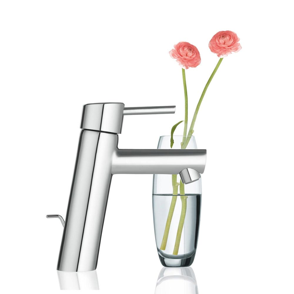 Grohe Concetto Mono Basin Mixer with Pop-up Waste - 23450001 profile large image view 2