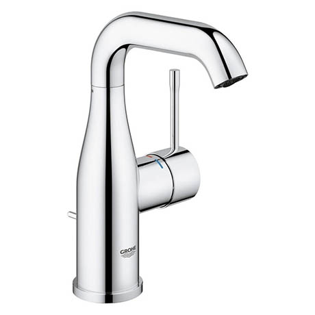 Grohe Essence M-Size Mono Basin Mixer with Pop-up Waste - Chrome - 23462001