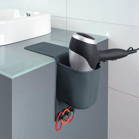 Wenko Ampio Grey Hair Dryer Holder - 23481100
