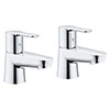 Grohe Get Basin Pillar Taps - 23498000 profile small image view 1
