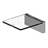 AKW Onyx Small Shelf Chrome profile small image view 1