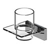 AKW Onyx Tumbler and Holder Chrome profile small image view 1