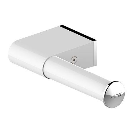 AKW Onyx White Toilet Roll Holder