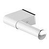 AKW Onyx White Toilet Roll Holder profile small image view 1
