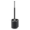 AKW Onyx Black Toilet Brush and Holder profile small image view 1