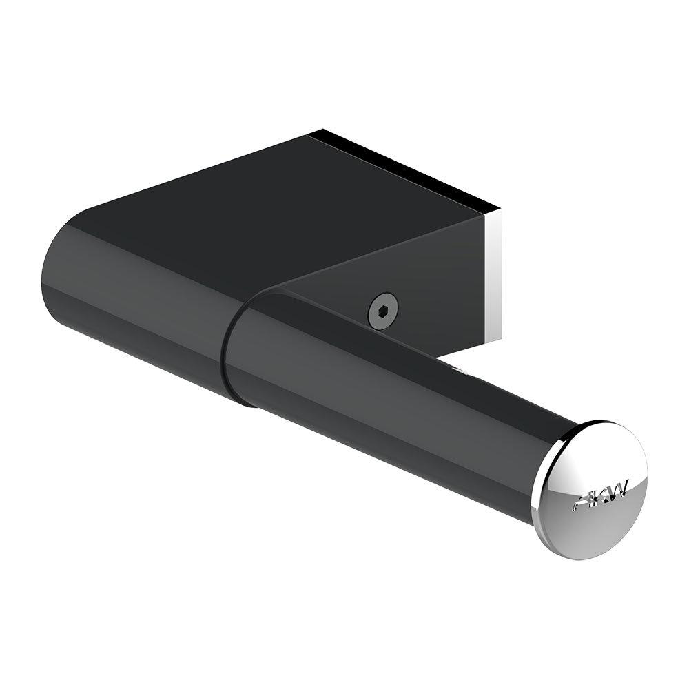 AKW Onyx Black Toilet Roll Holder