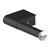 AKW Onyx Black Toilet Roll Holder profile small image view 1