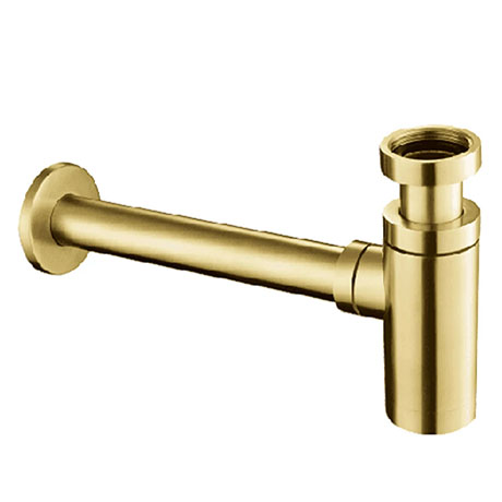 JTP Vos Brushed Brass Basin Bottle Trap