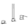 Grohe Plus 3 Tap Hole Rim Mounted Bath Mixer (No Spout) - 23845003 profile small image view 1