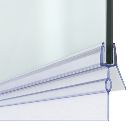 Bath Shower Screen Door Seal Strip - Glass 4-6mm / Gap 23mm