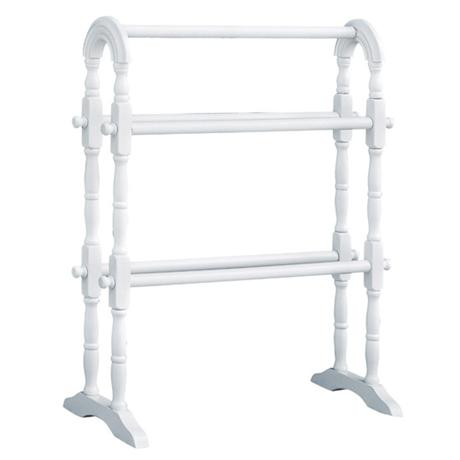 White Wood Towel Rail - 2401002