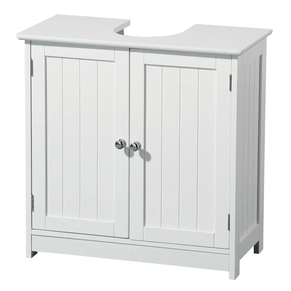 White Wood Under Sink Cabinet - 2402060 Large Image