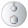 Grohe Grohtherm 1-Outlet Thermostatic Shower Mixer Trim with Shut-Off Valve - 24075000 profile small image view 1