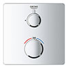 Grohe Grohtherm 1-Outlet Thermostatic Shower Mixer Trim with Shut-Off Valve - 24078000 profile small image view 1