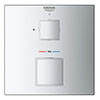 Grohe Grohtherm Cube 1-Outlet Thermostatic Shower Mixer Trim with Shut-Off Valve - 24153000 profile small image view 1