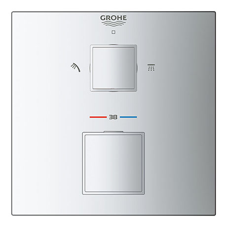 Grohe Grohtherm Cube 2-Outlet Thermostatic Shower Mixer Trim with Diverter Valve - 24154000