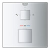 Grohe Grohtherm Cube 2-Outlet Thermostatic Shower Mixer Trim with Diverter Valve - 24154000 profile small image view 1
